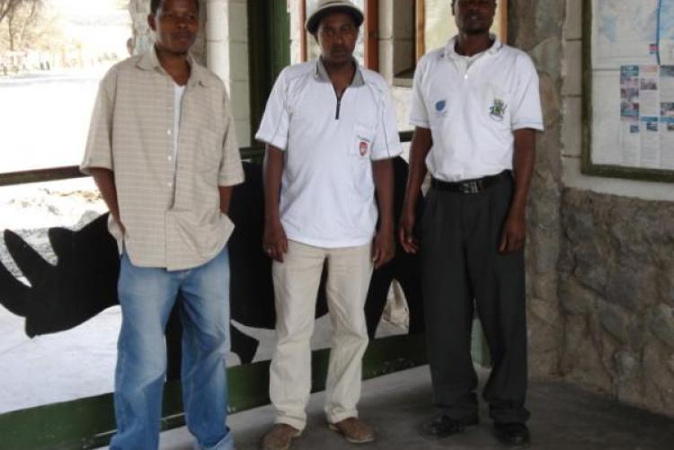 From left -George Ndegwa,Benjamin Kimele and Jared Okachi- at Hells Gate
