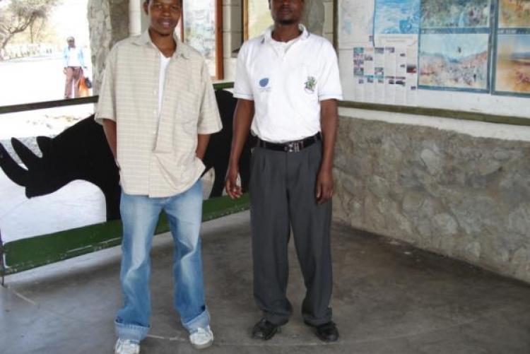 George Ndegwa and Jared @ hells gate