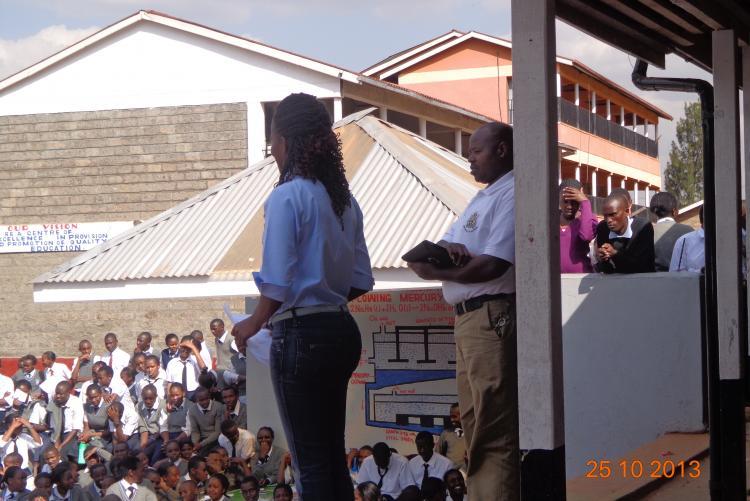 Mr Paul Kariuki  addressing students