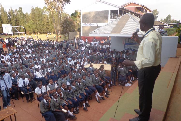 Danson Ngiela addressing students